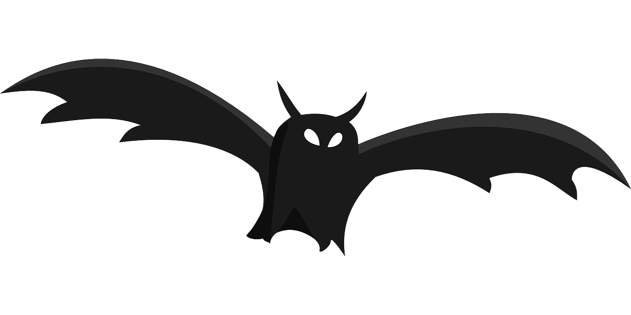 bat silhouette black free photo