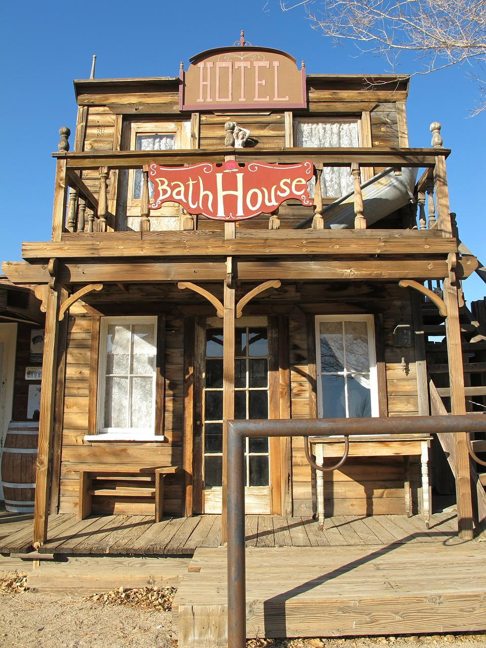 bath house western town ghost town free photo