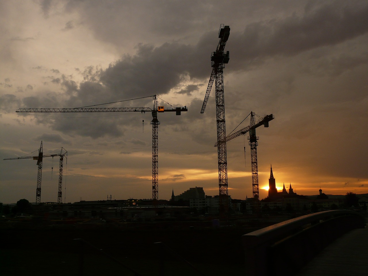 baukran crane construction sites free photo