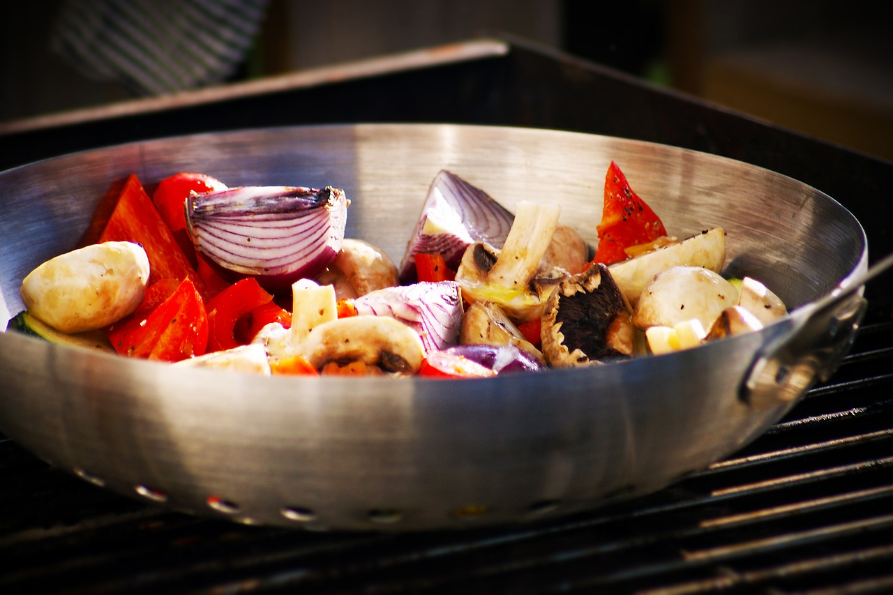 bbq vegetables pepper free photo