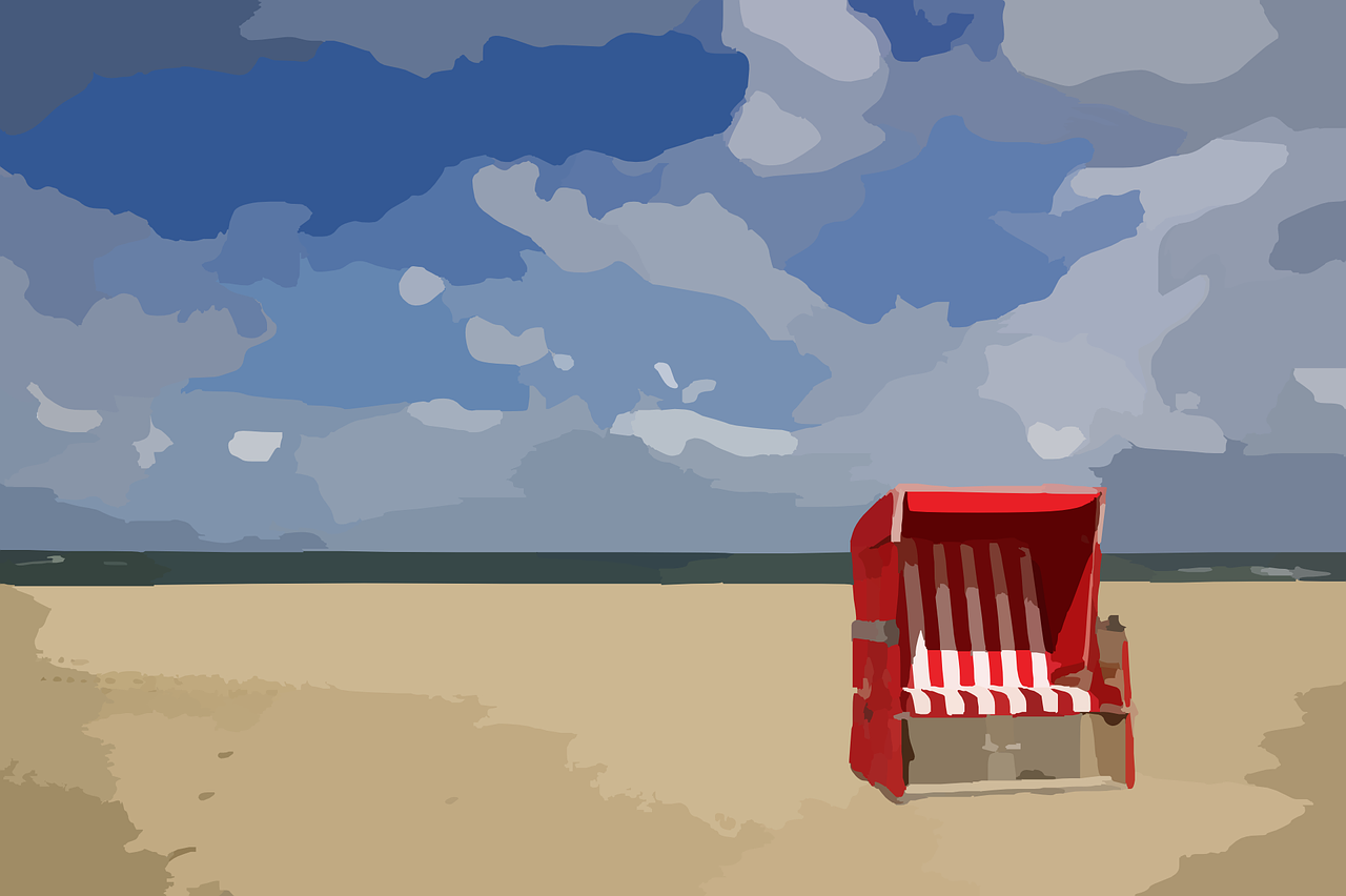 beach chair ocean free picture