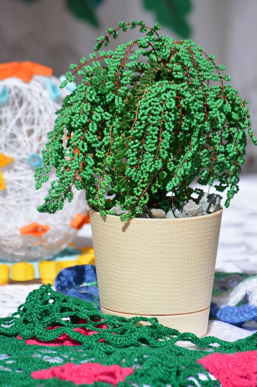 Beading Tree Handicraft Project Creativity Hobby Free Photo From