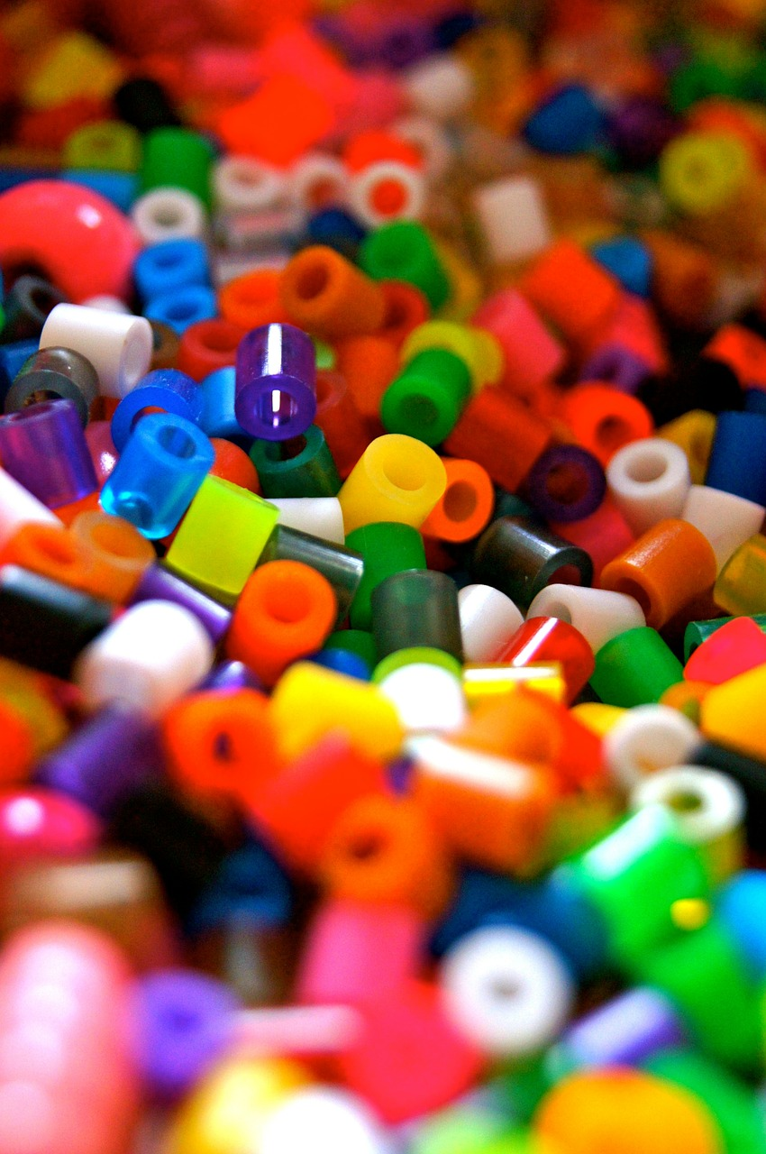beads colorful plastic free photo