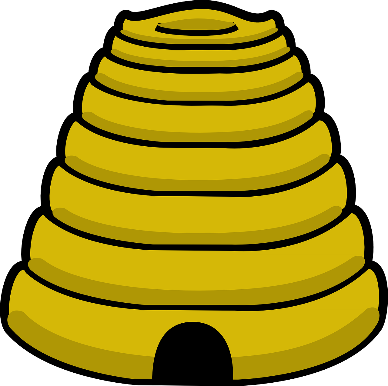beehive yellow cone free photo