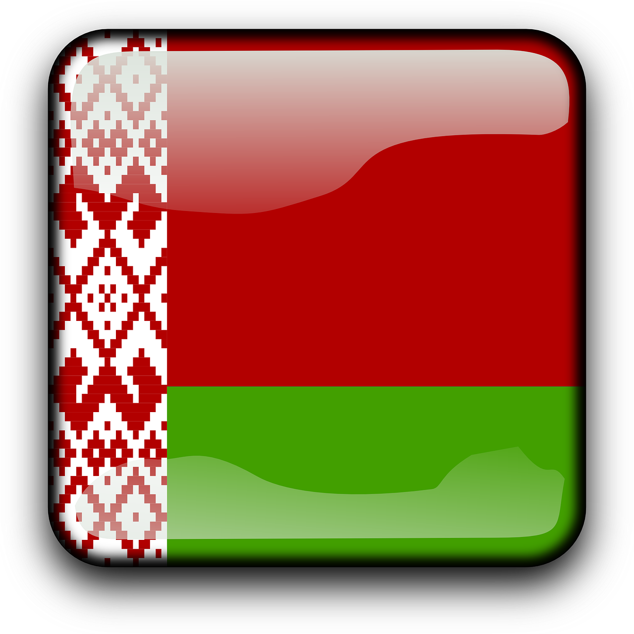 belarus,flag,country,nationality,square,button,glossy,free vector graphics,free pictures, free photos, free images, royalty free, free illustrations, public domain