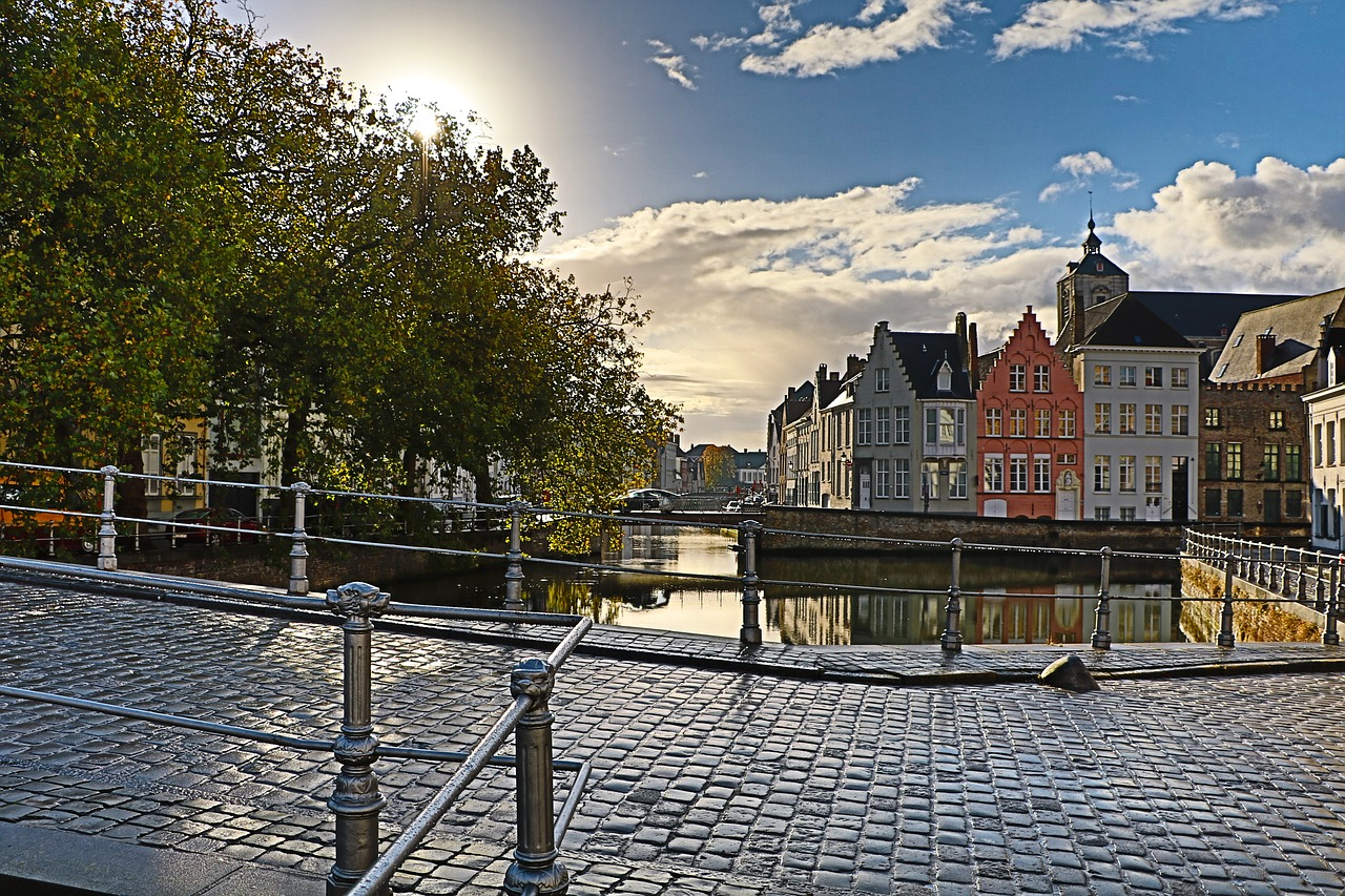 belgium bridge travel free photo