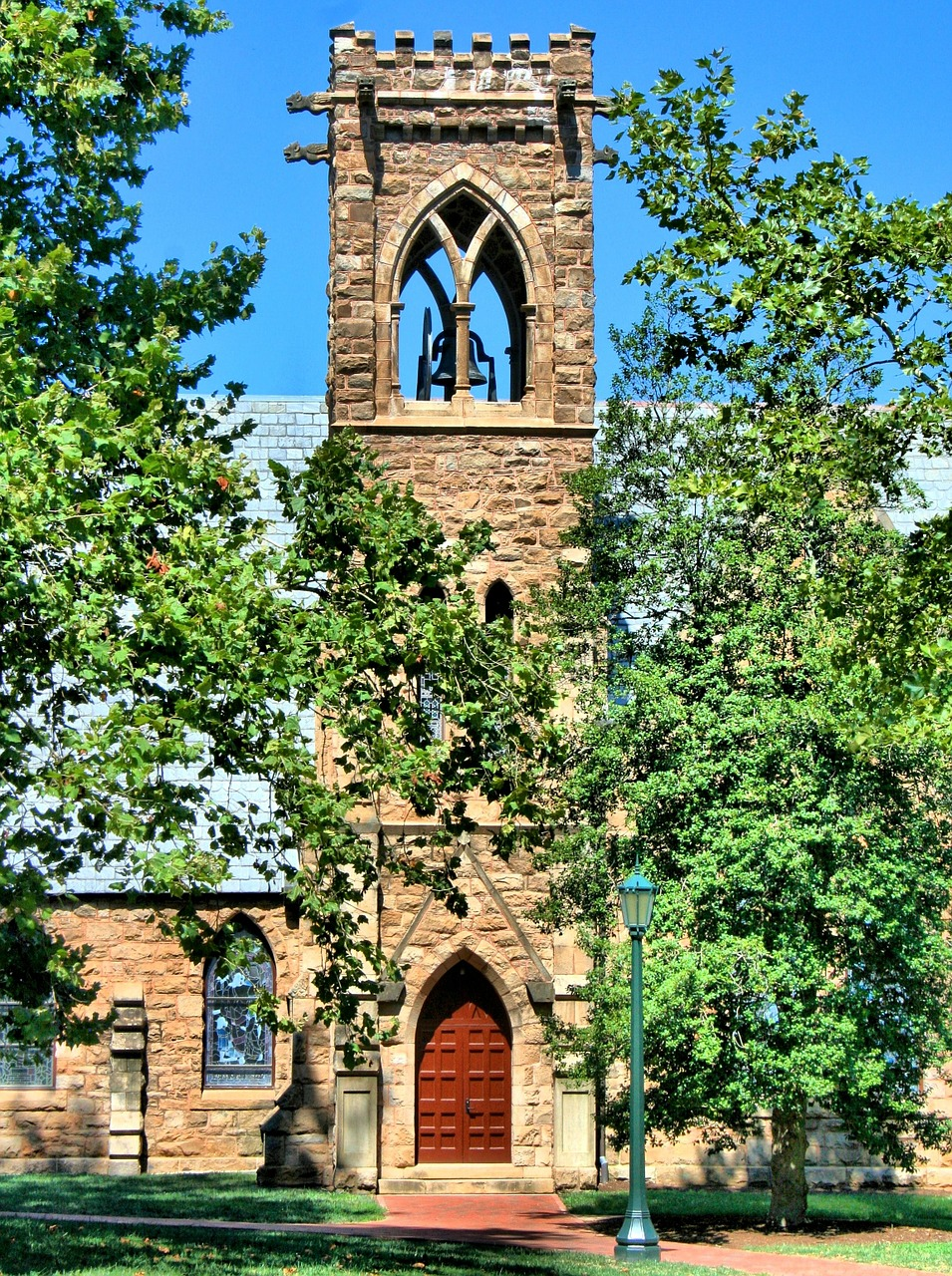 bell tower stone church free photo