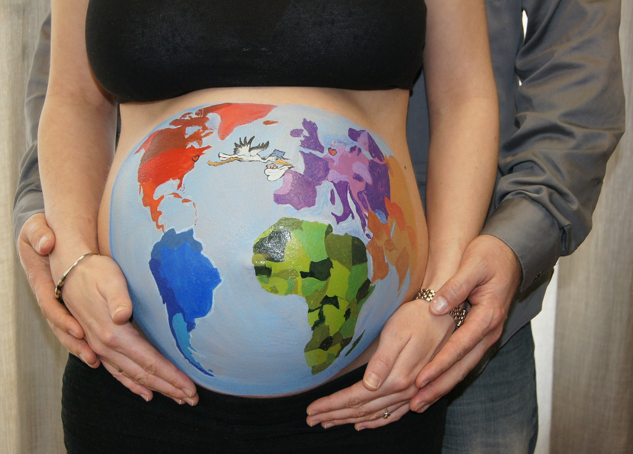 belly painting bellypaint globe free photo