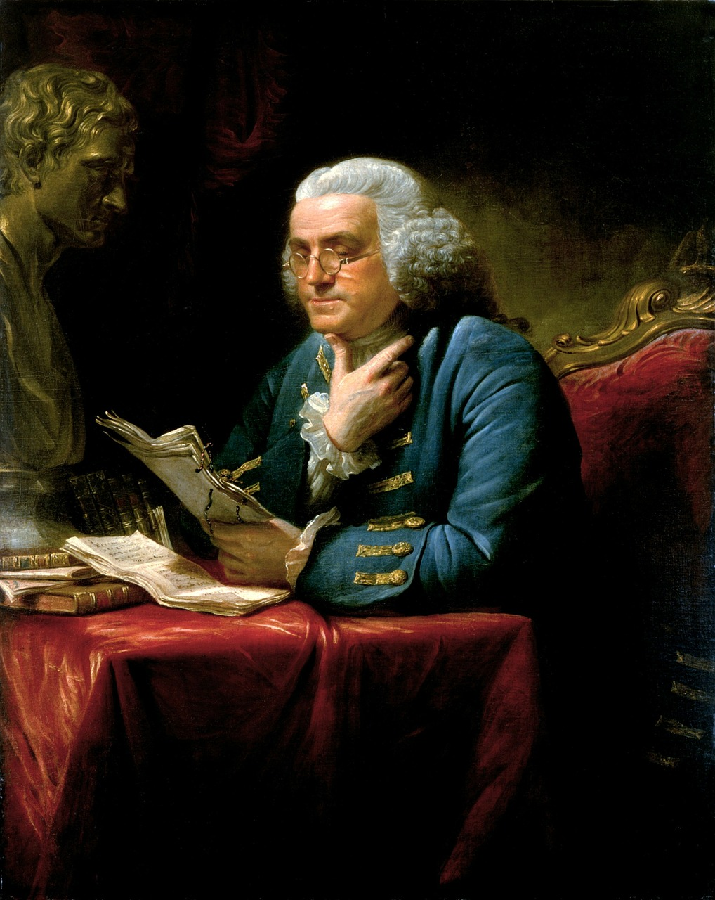 benjamin franklin 1767 writer free photo