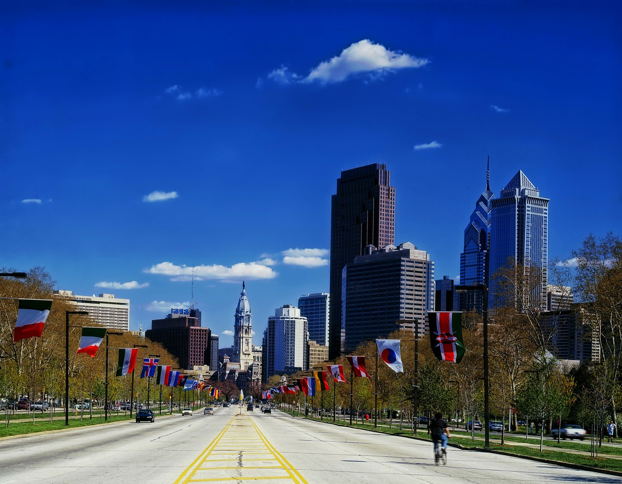 benjamin franklin parkway philadelphia pennsylvania free photo