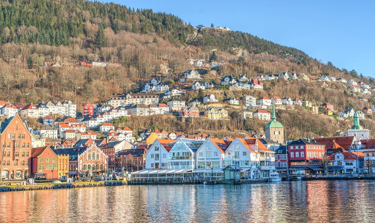 bergen norway architecture free photo