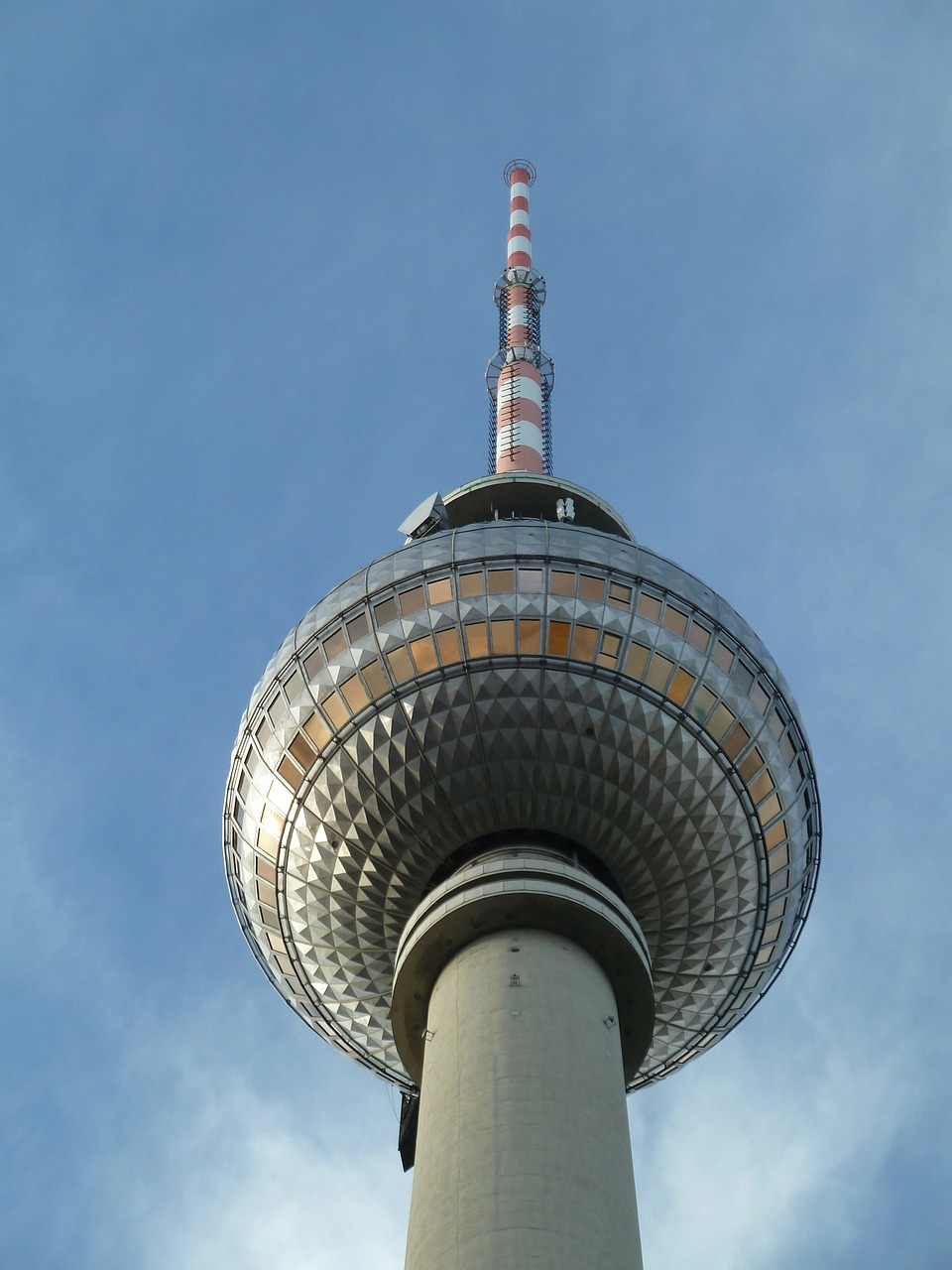 berlin tv tower sky free photo