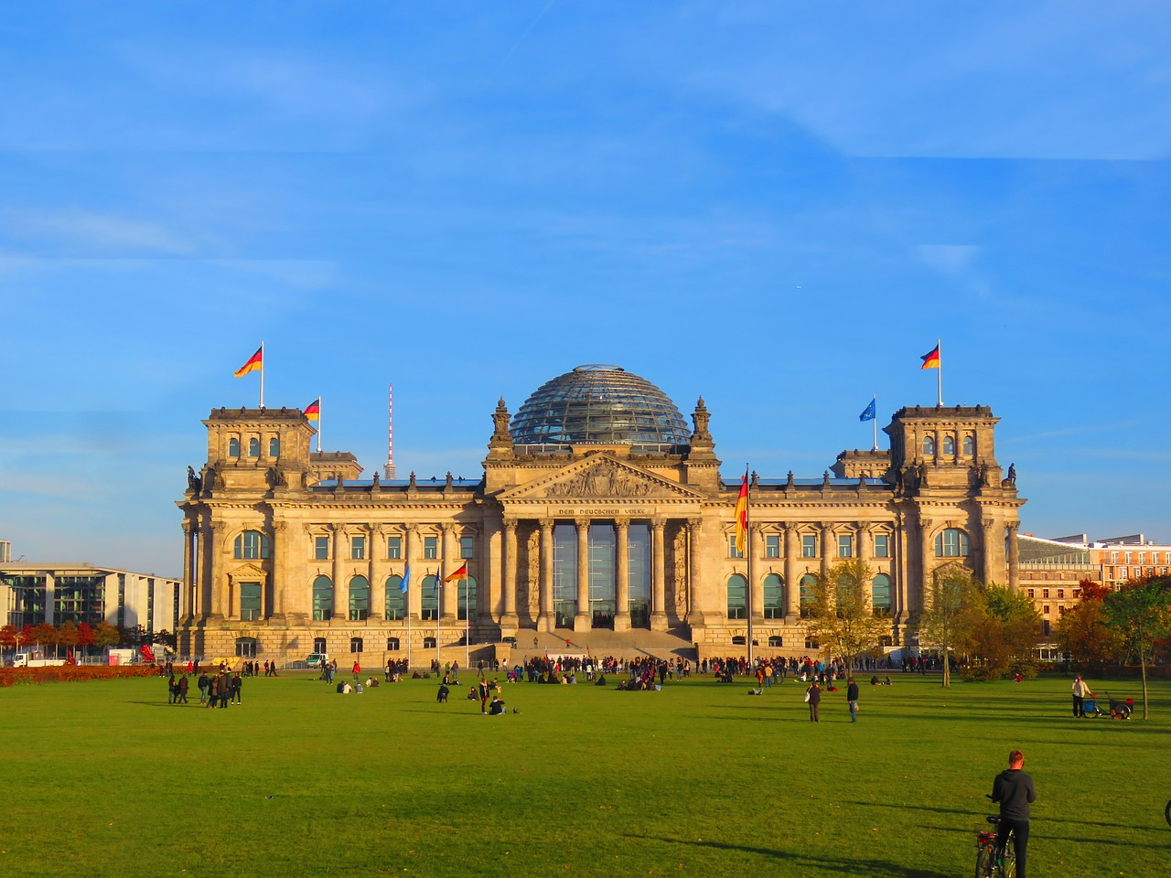 berlin eventide reichstag free photo