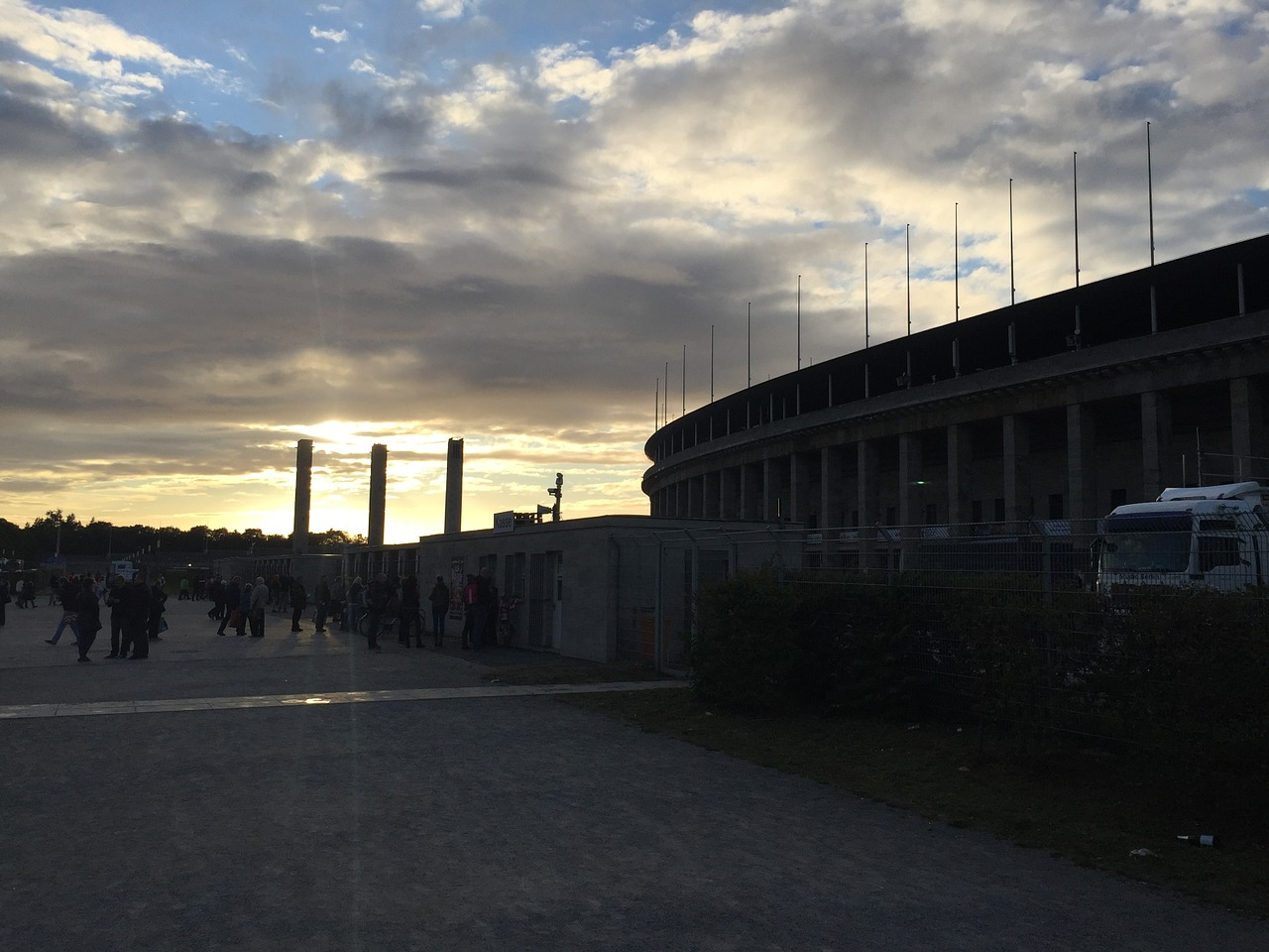 berlin olympiastadion architecture free photo