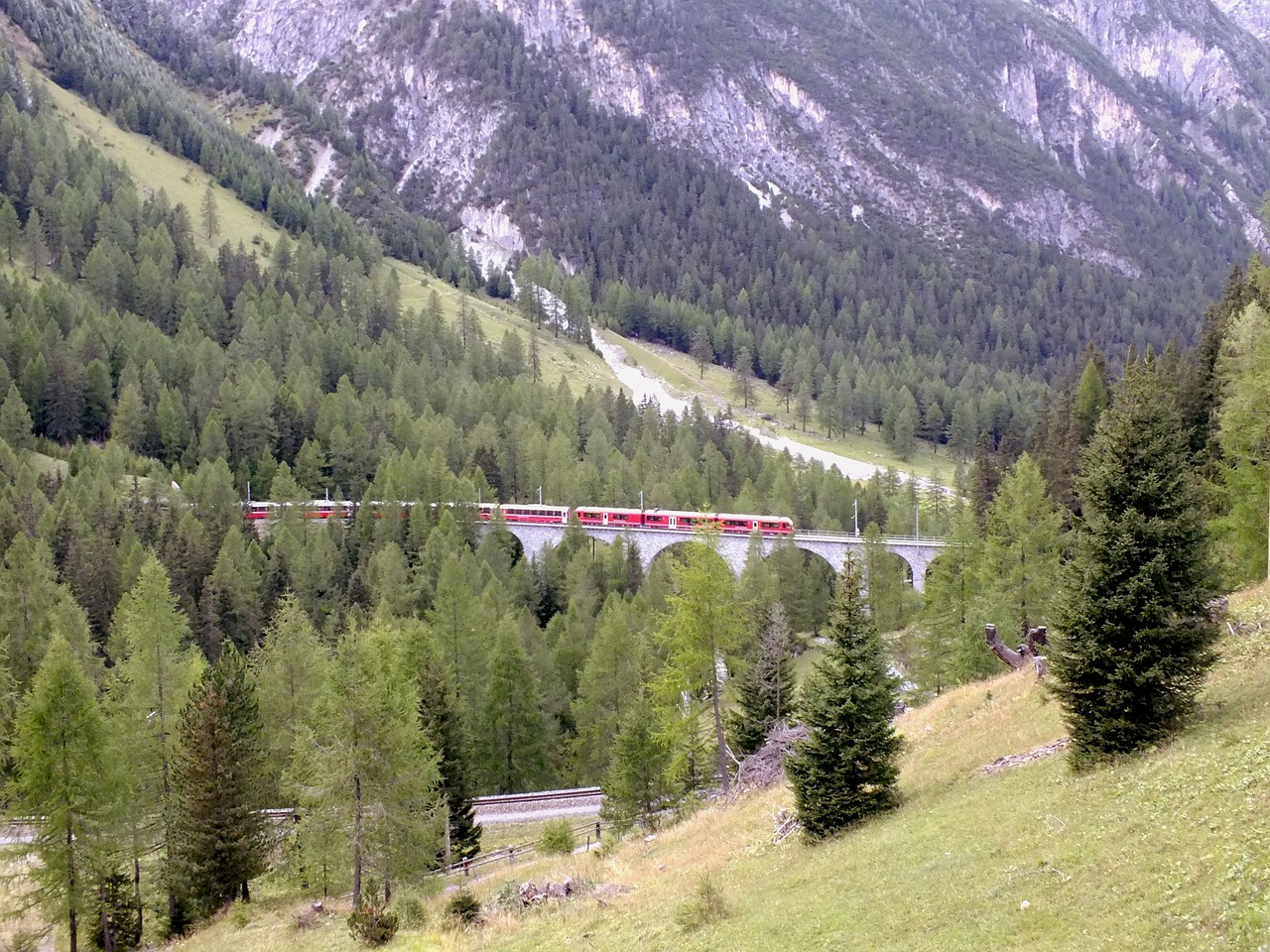 bernina bridge viaduct free photo