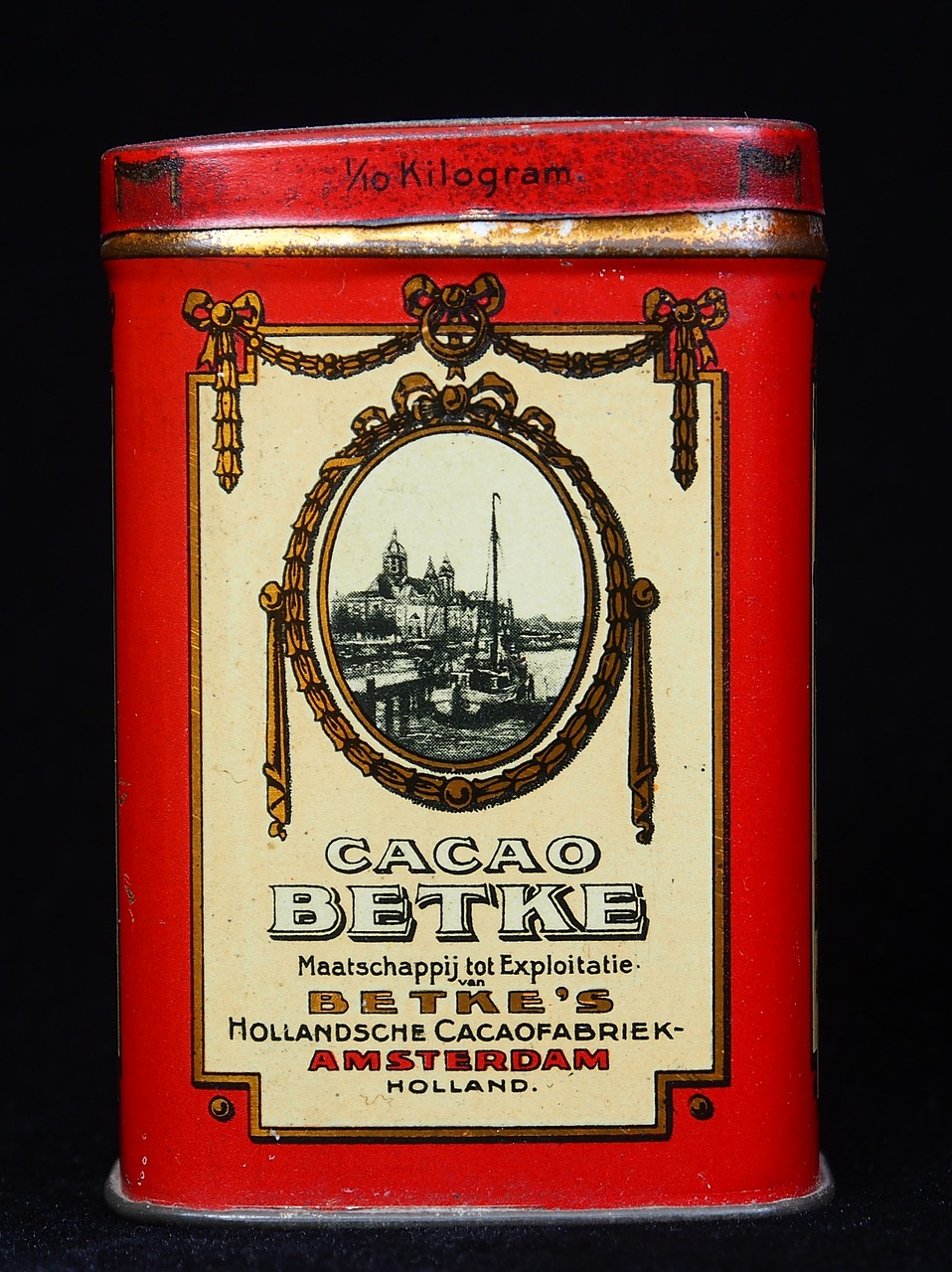 betke,cacao,box,package,old,historic,retro,tin,container,free pictures, free photos, free images, royalty free, free illustrations, public domain