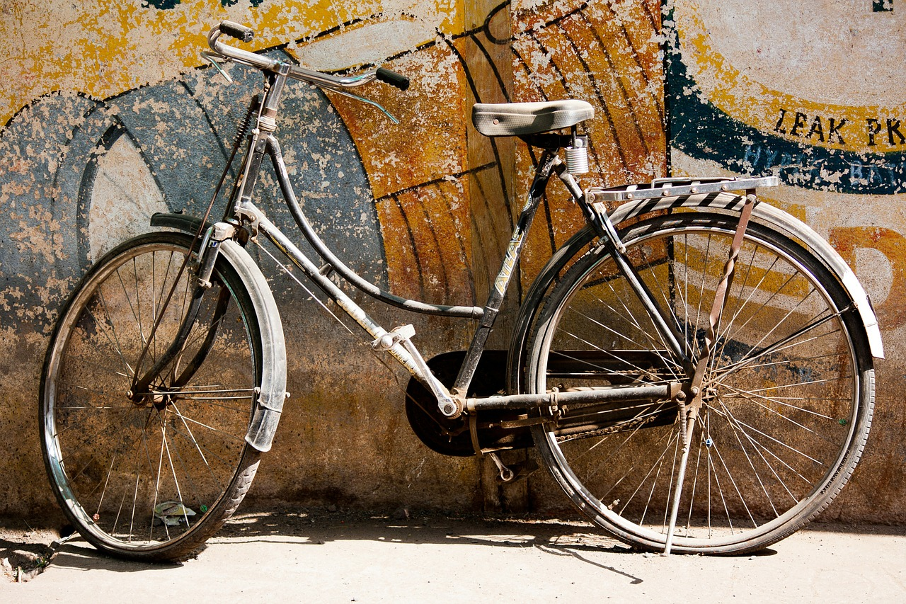 bicycle white transportation free photo