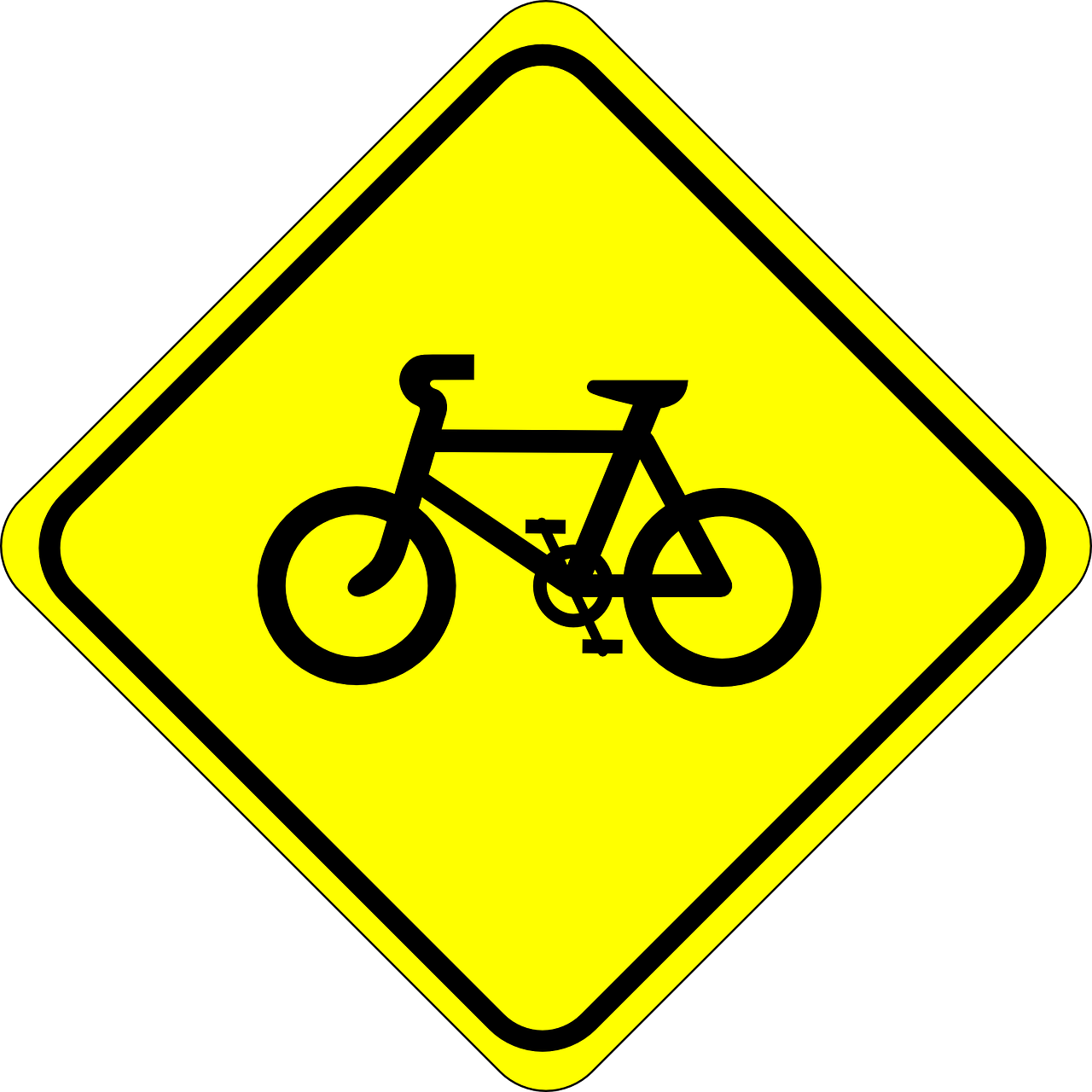 bicycle roadsigns watch free photo