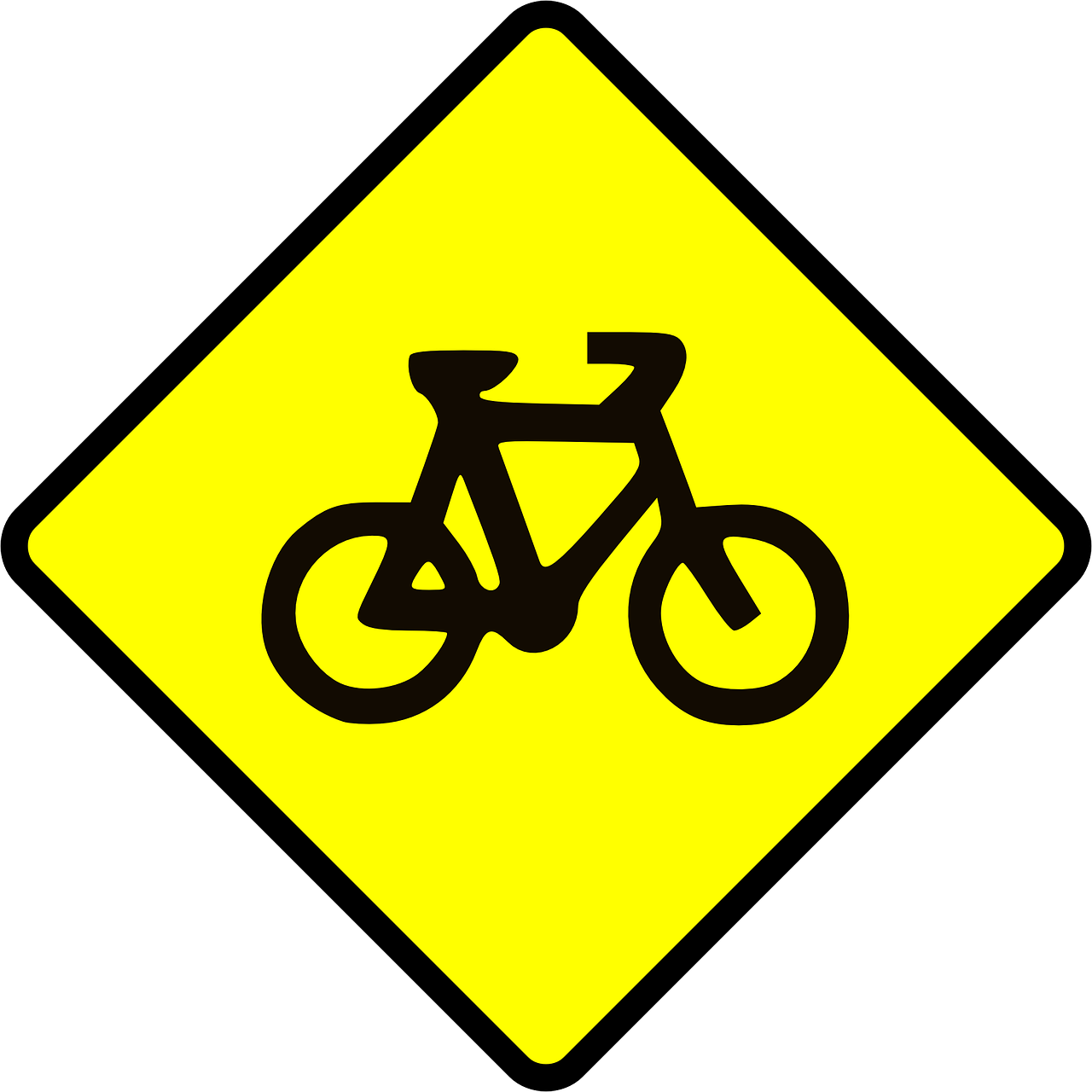 bicycle biking caution free photo