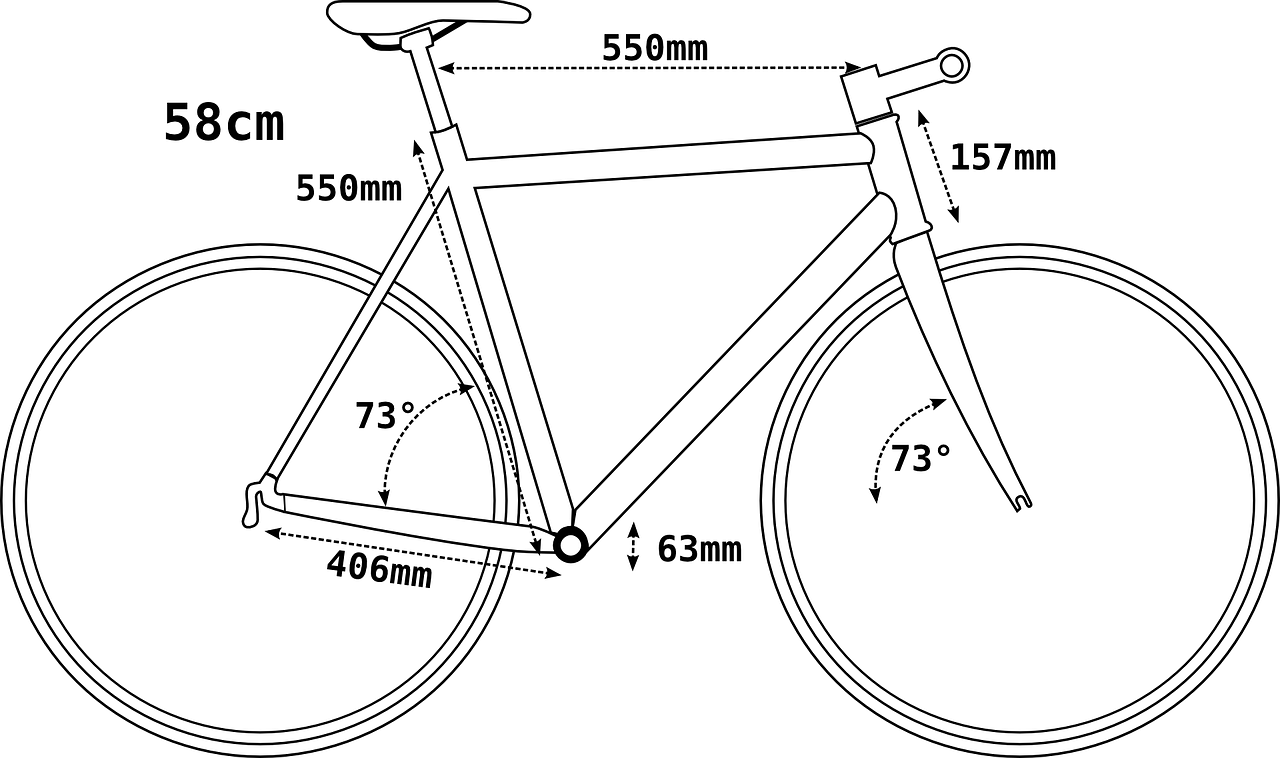 bicycle bike geometry free photo