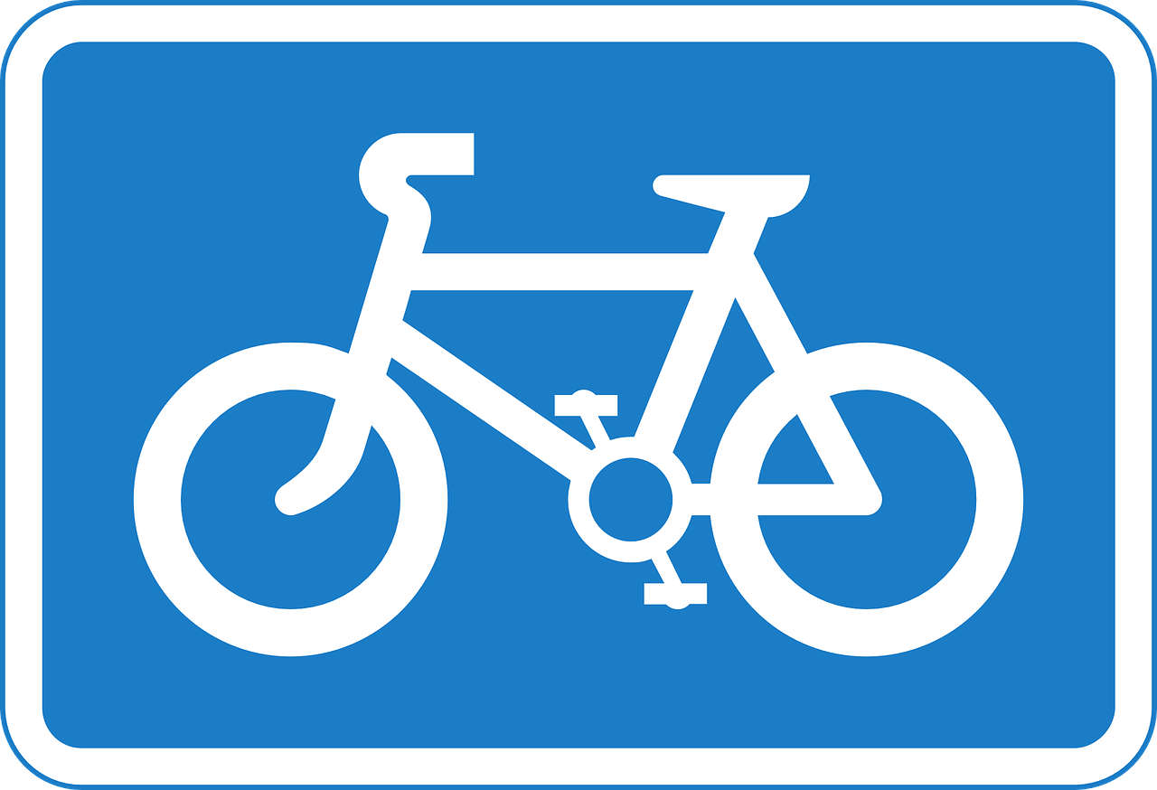 bicycles sign signage free photo