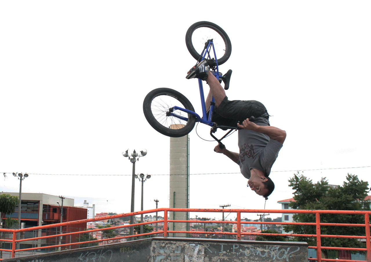 bike looping bmx free photo
