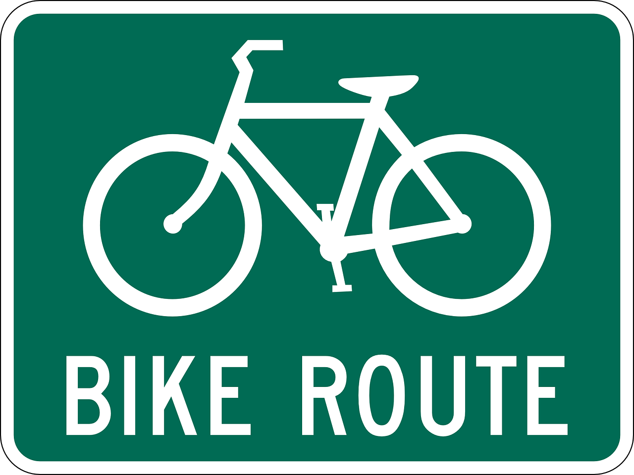 bike route sign free photo