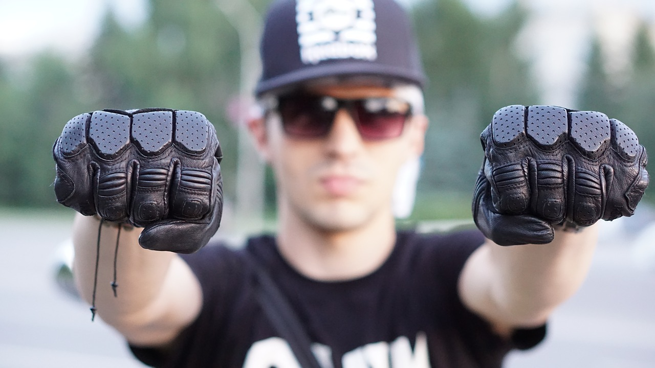 biker motorcycle biker gloves free photo