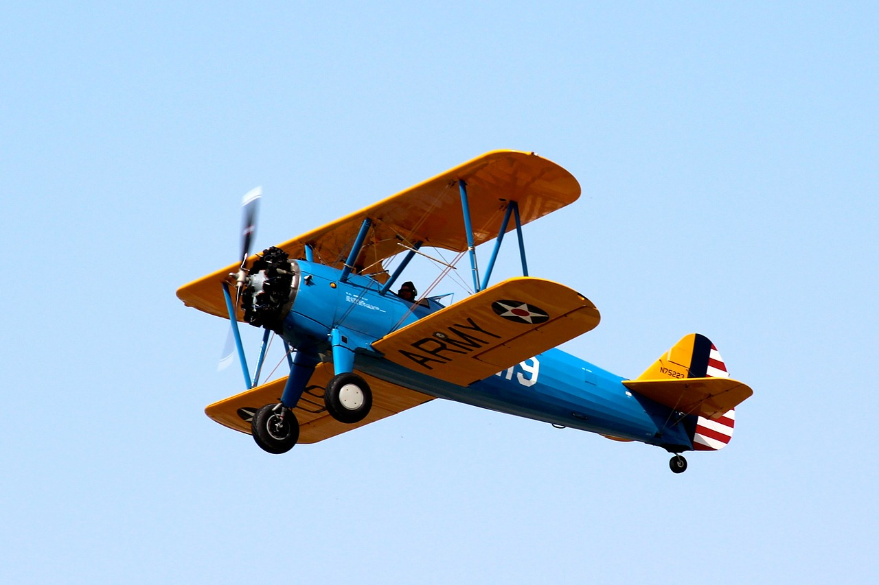 biplane airplane plane free photo