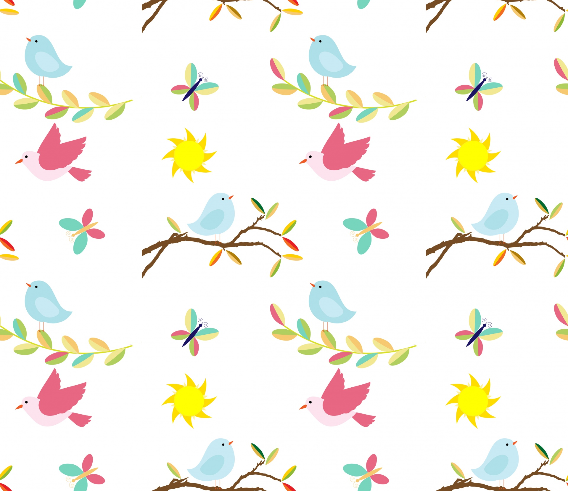 Birdsbirdcutebackgroundwallpaper Free Image From