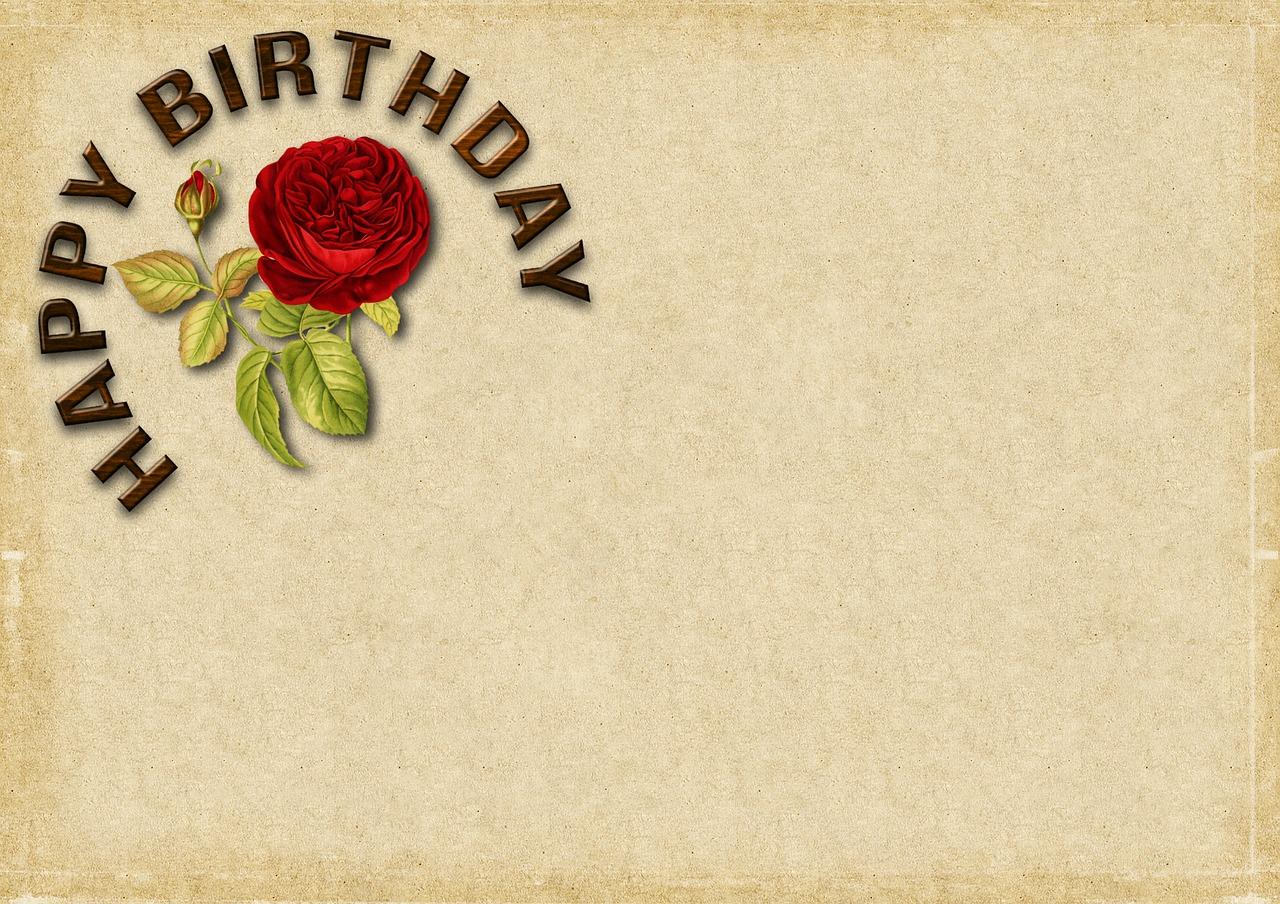 birthday rose happy birthday birthday card map free photo from