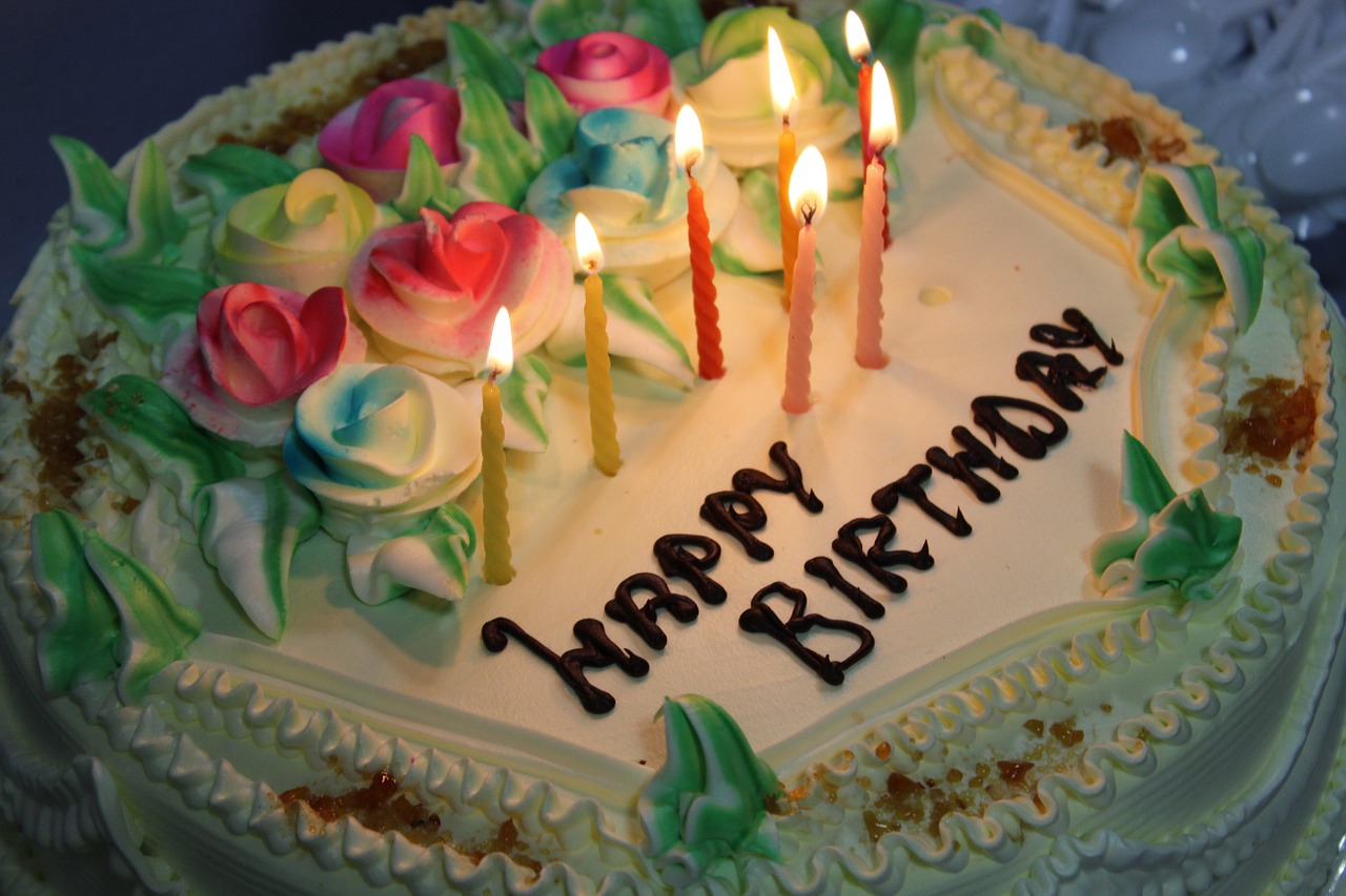 Birthday Cake Candles Free Picture