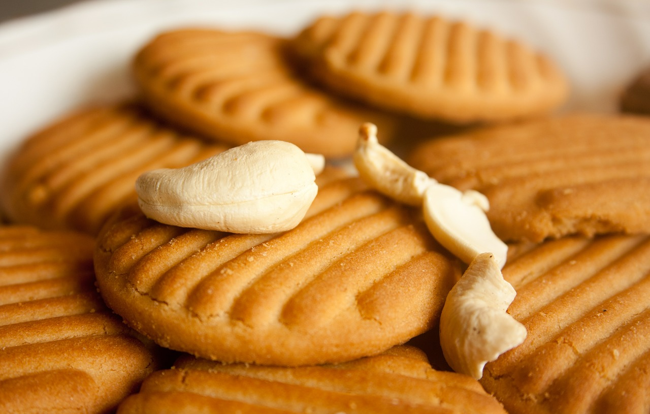 biscuits cashews cookies free picture