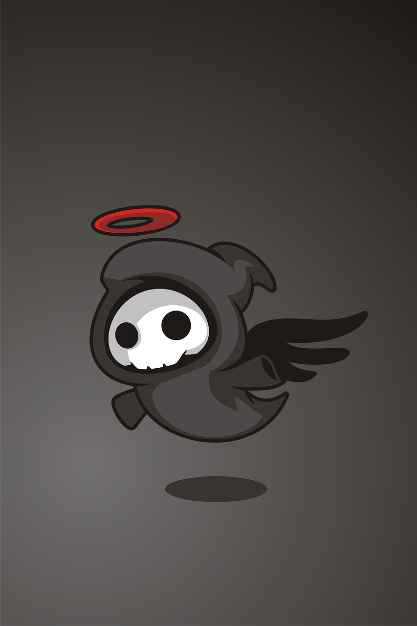 Black Dark Angel Death Cute Free Image From Needpix Com