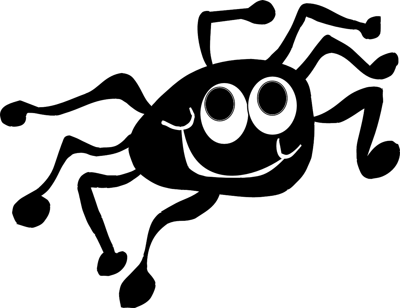 black happy face free photo