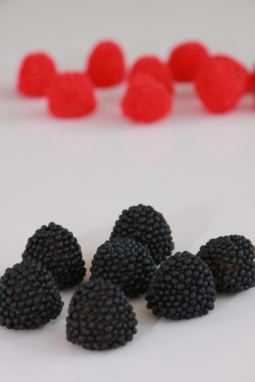 black blackberries candy free photo