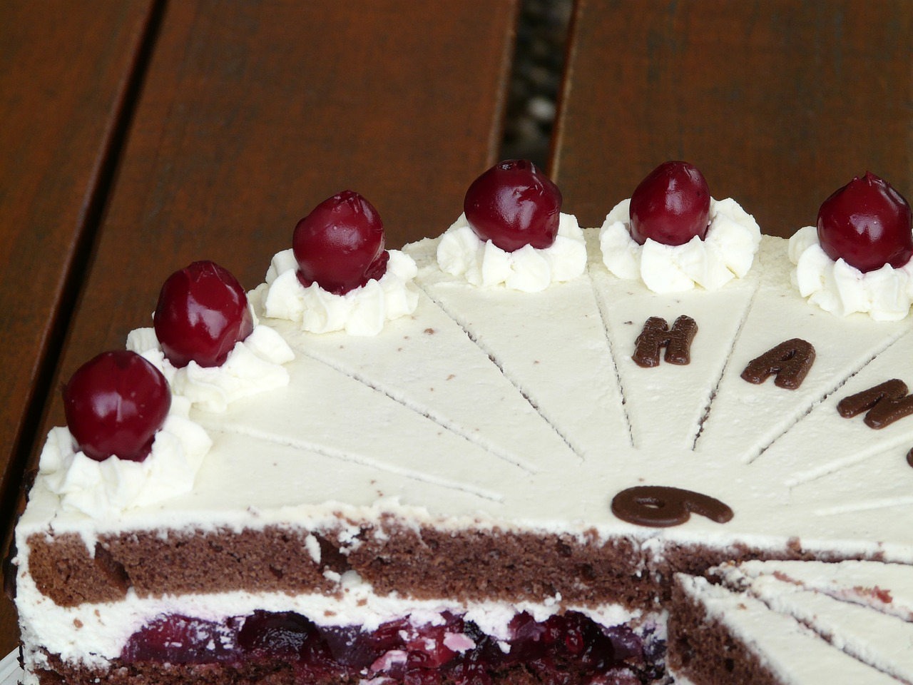black forest cake cherries cream free photo