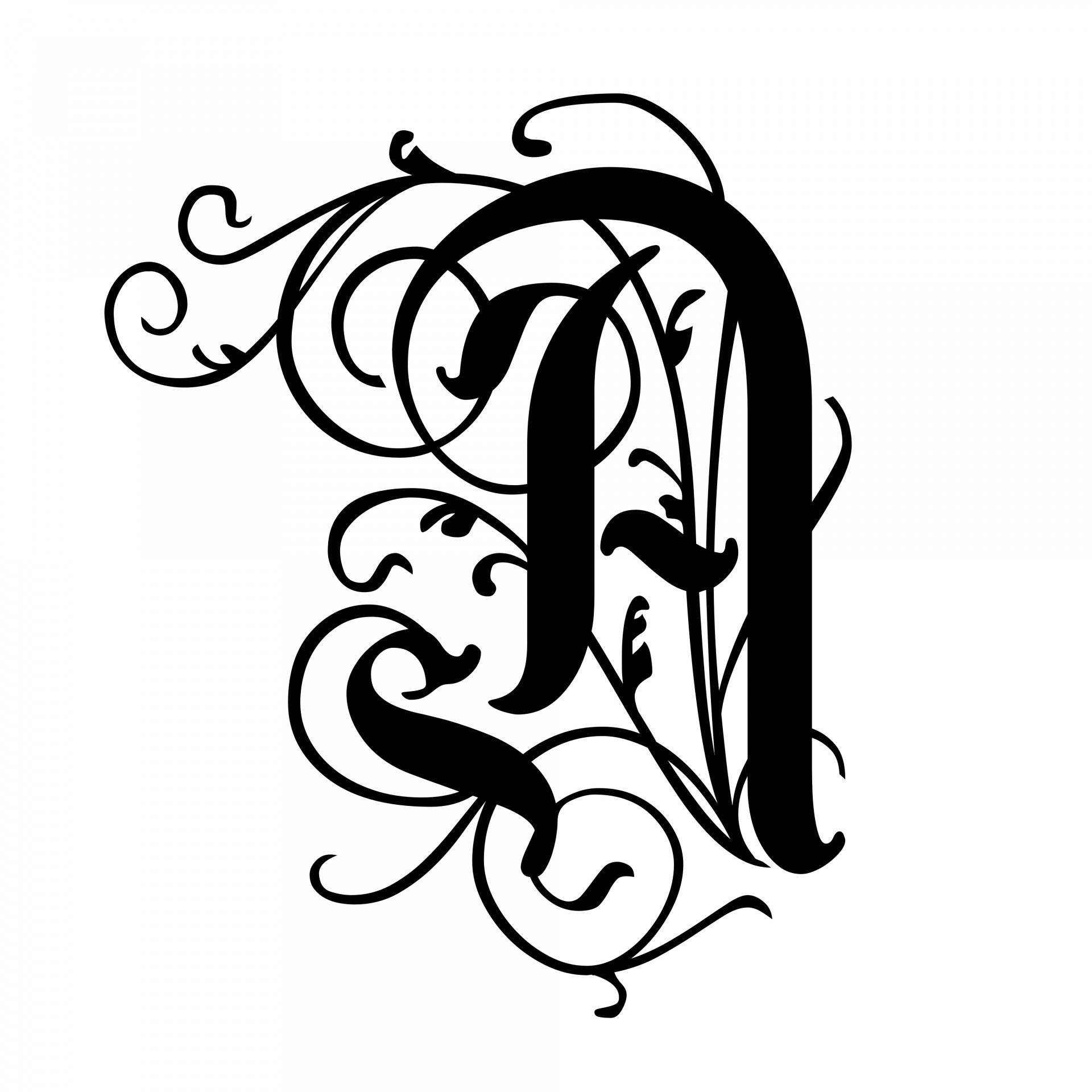 Decorative Letter A.Deco Decorative Black Letter A Silhouette Free Image From