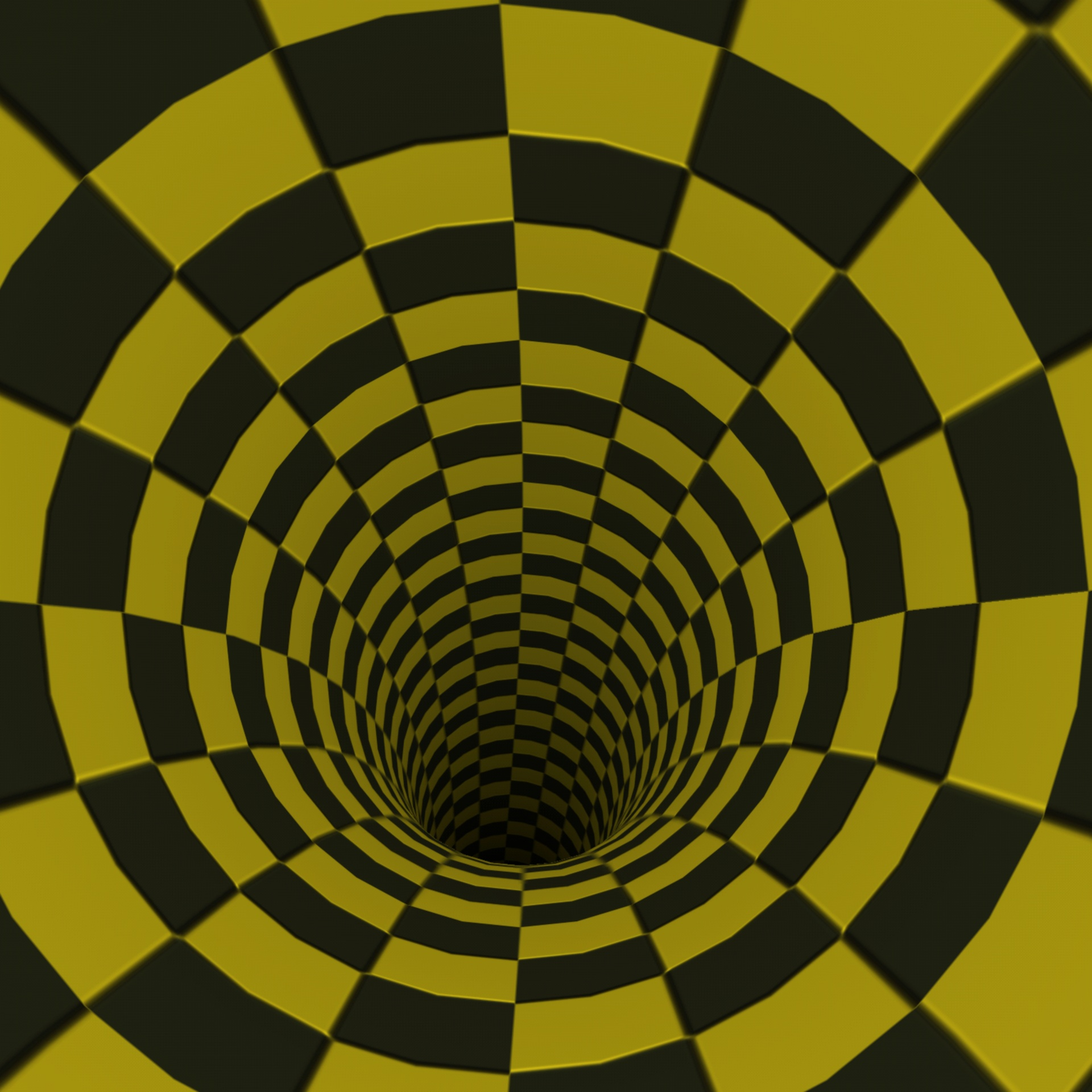 Wallpaper Black Yellow Checkerboard Tunnel Free Image From