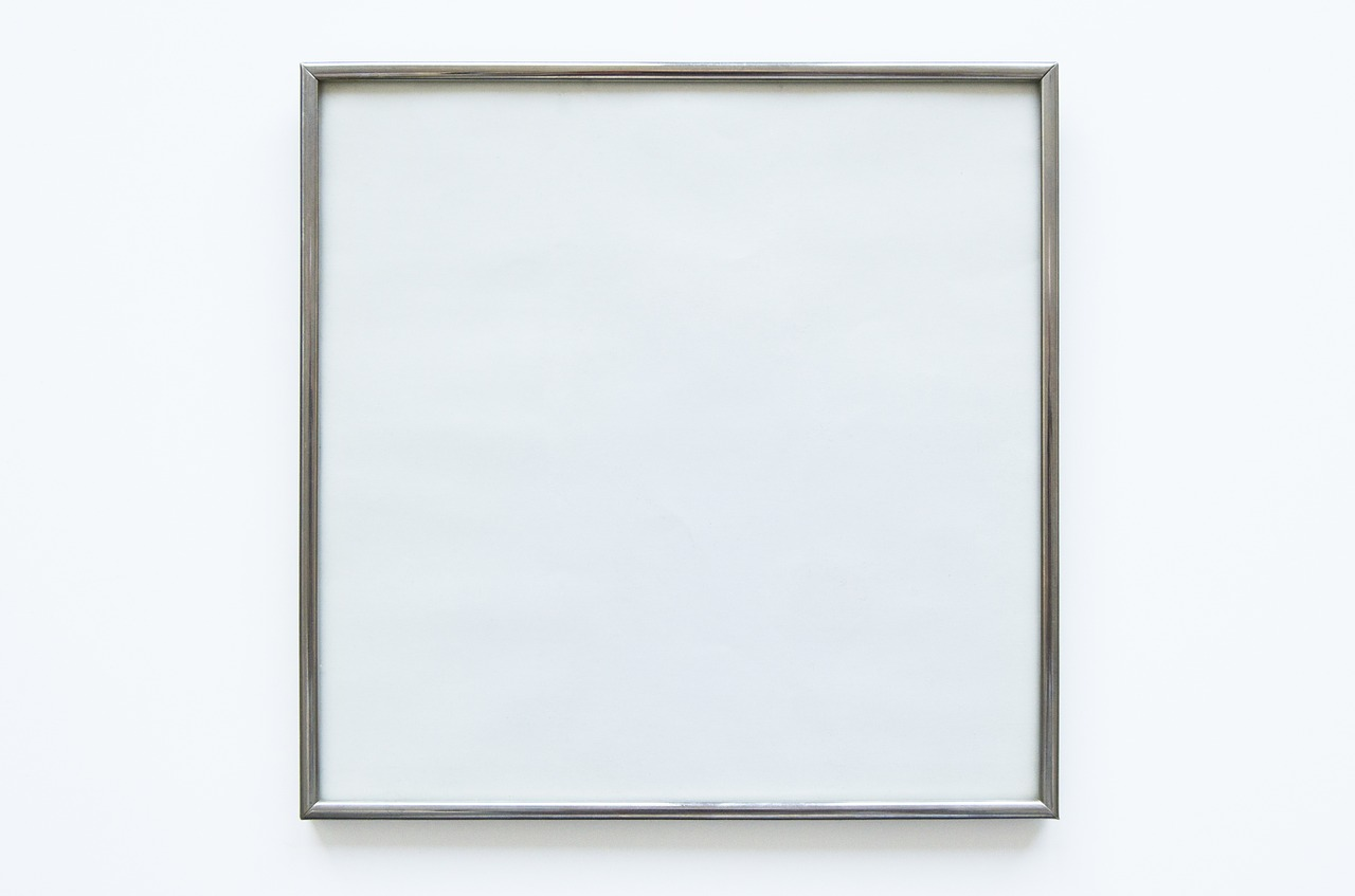 blank empty picture frame free photo