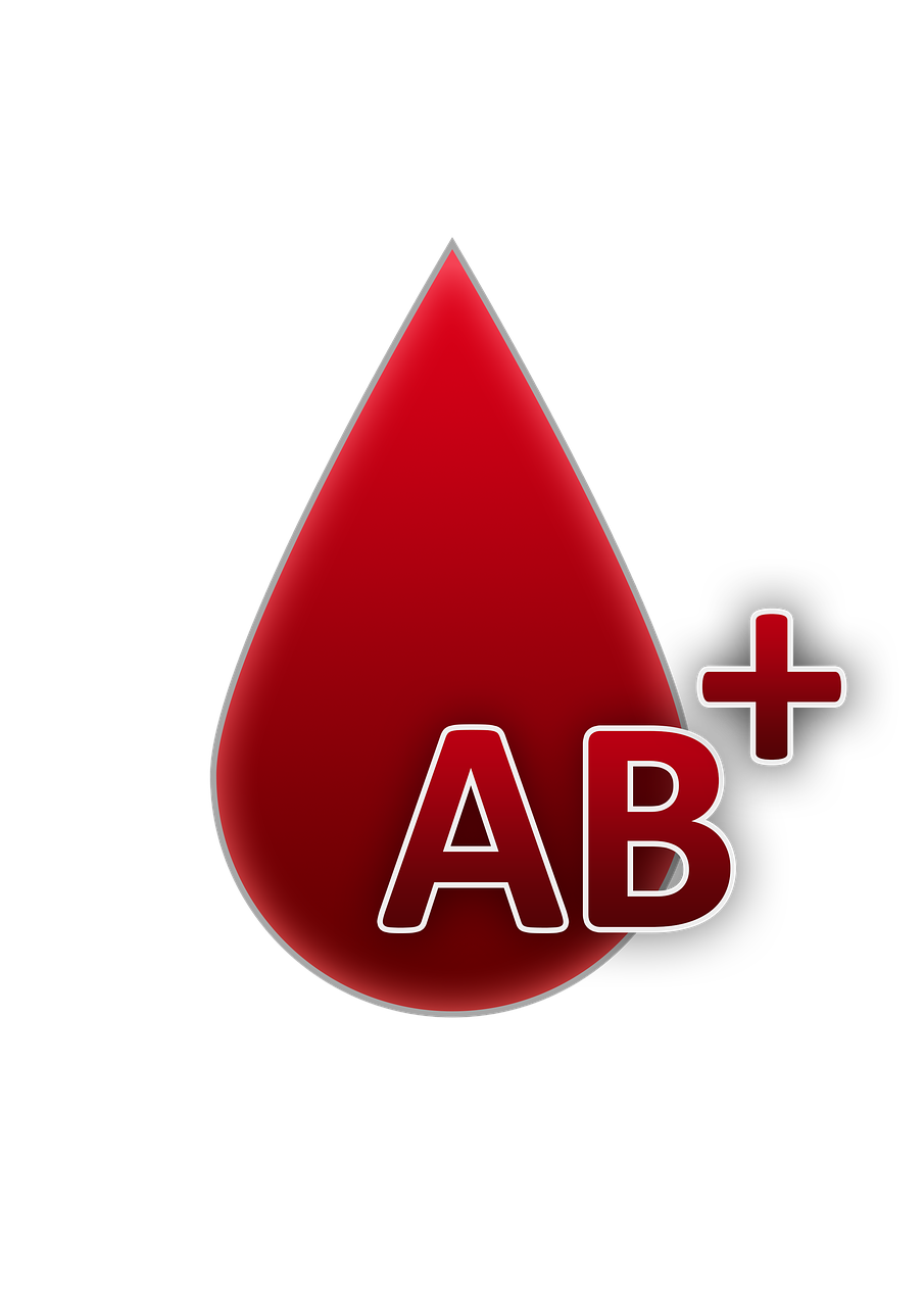 blood group ab rh factor positive free photo