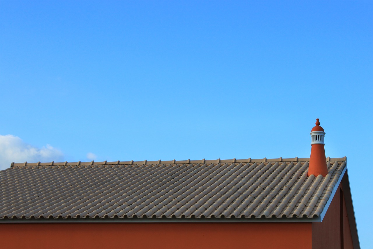 blue flue chimney free photo