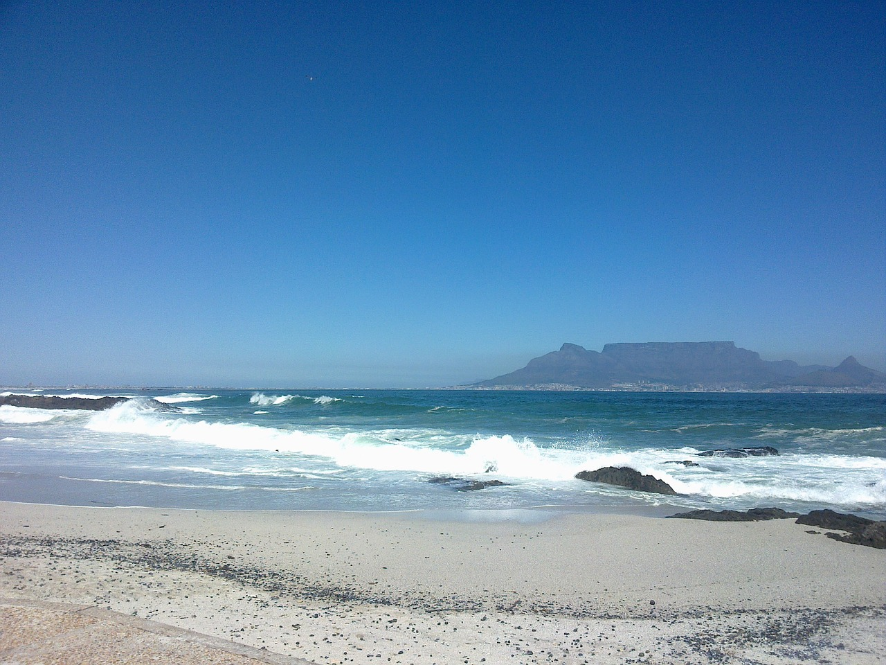 blue sky beach cape town free photo