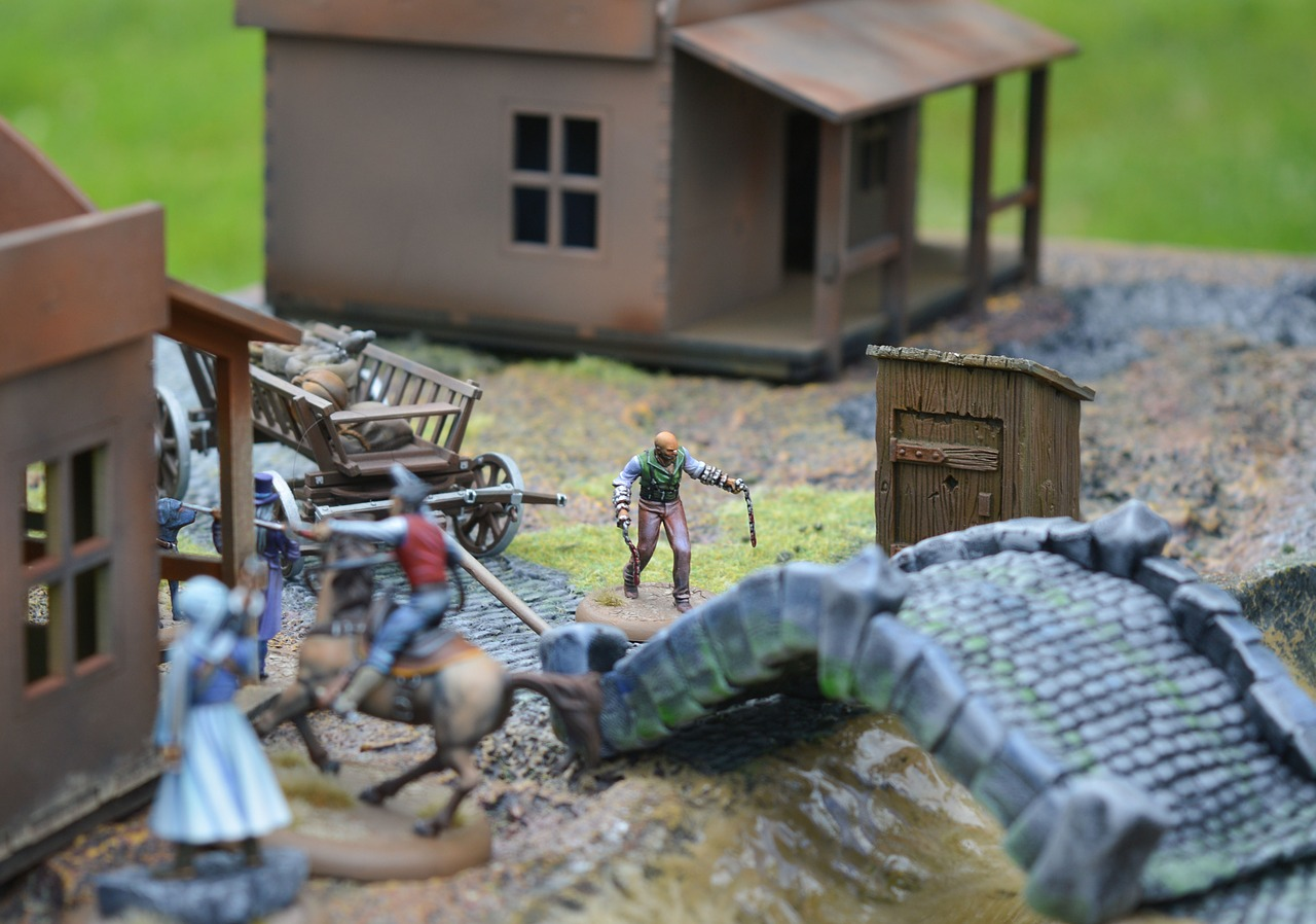 board game miniature action figures free photo