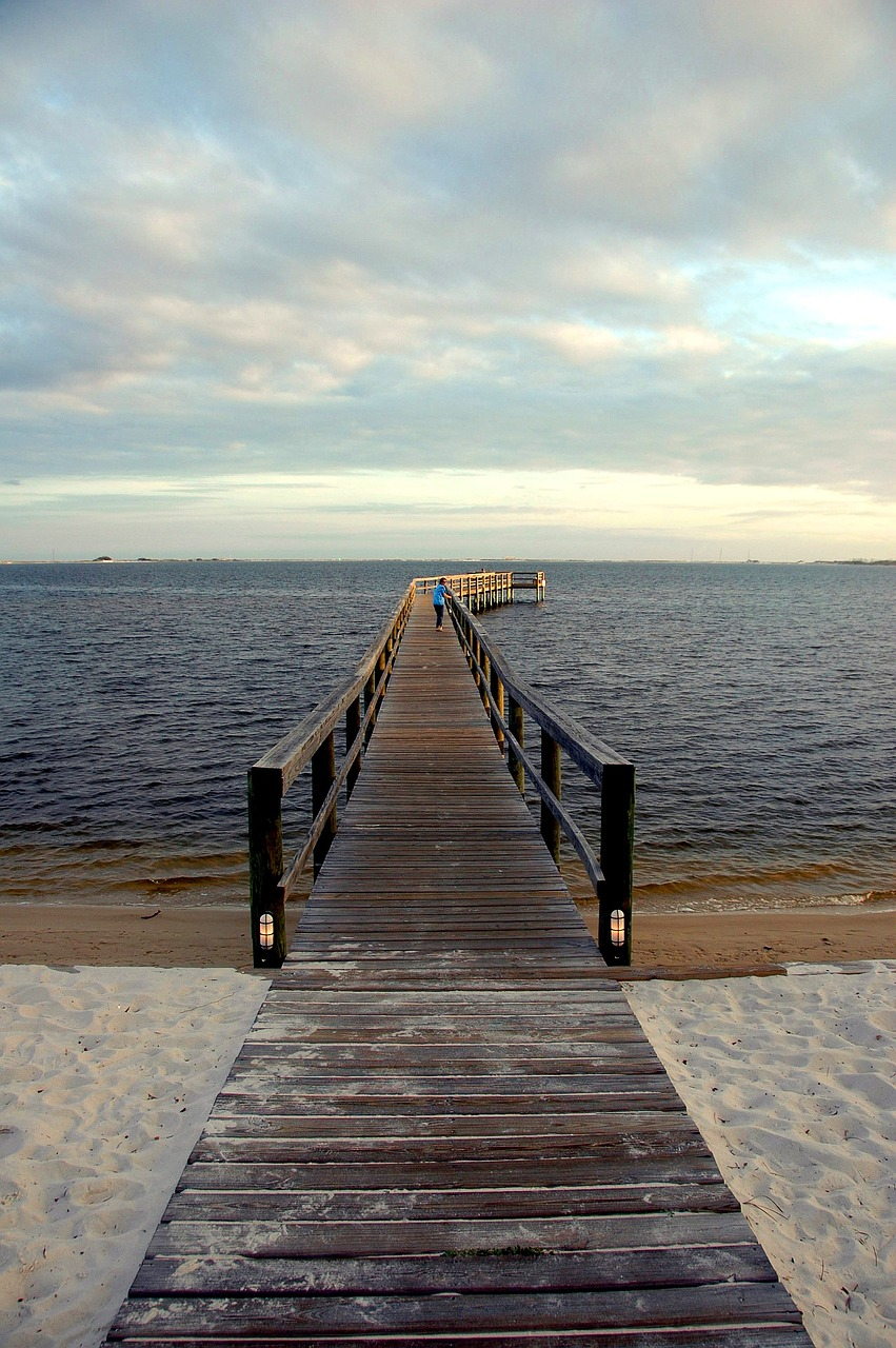 boardwalk river pier free picture