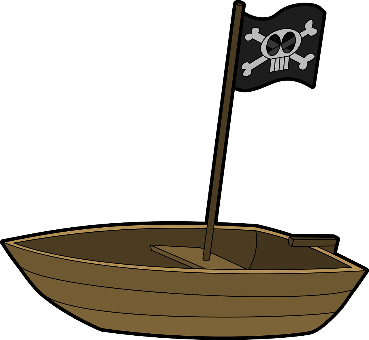 boat pirate rowboat free photo