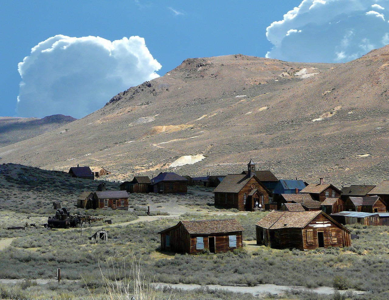 bodie ghost town mining buildings free photo