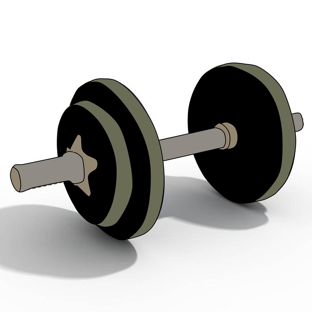 Bodybuilding Weight Academy Dumbbells Illustration Free Photo