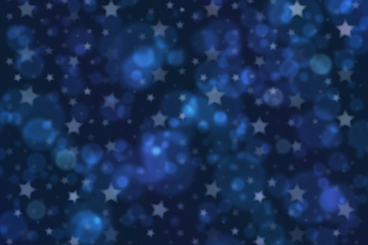 bokeh background texture stars blue free photo from