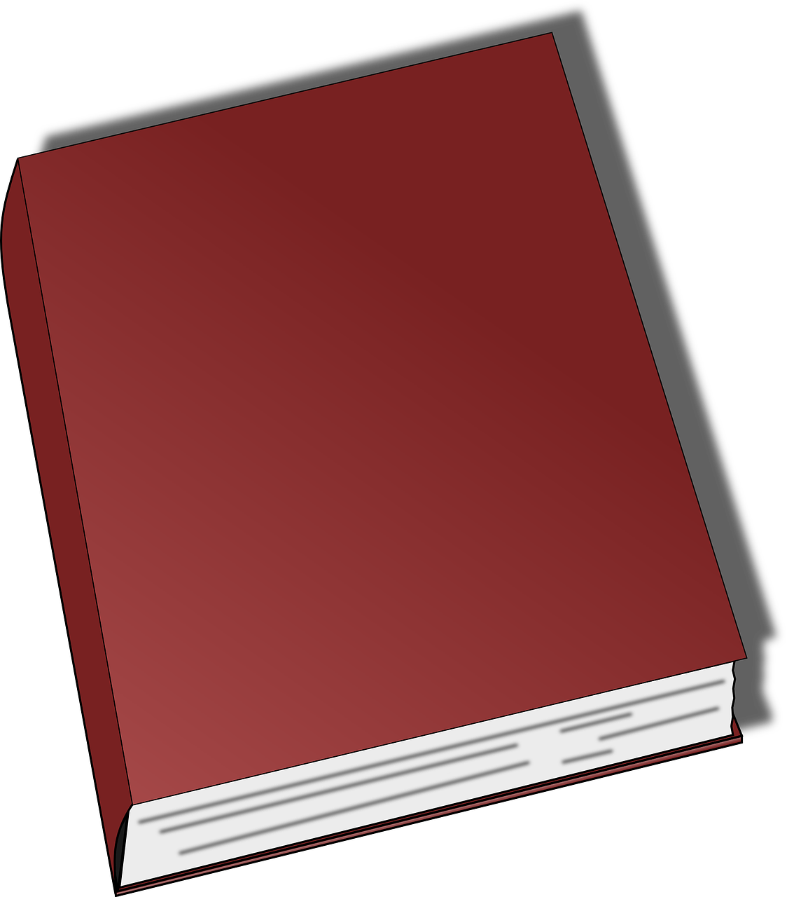book red closed free photo